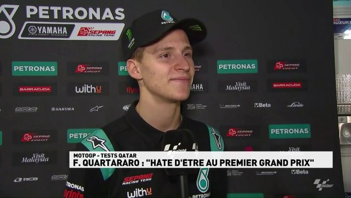 "Quartararo : ""hâte d'être au premier Grand Prix"" : MotoGP"