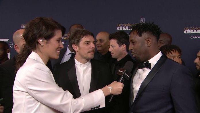 L'équipe du film Les Misérables très heureuse d'être sur le tapis rouge - César 2020