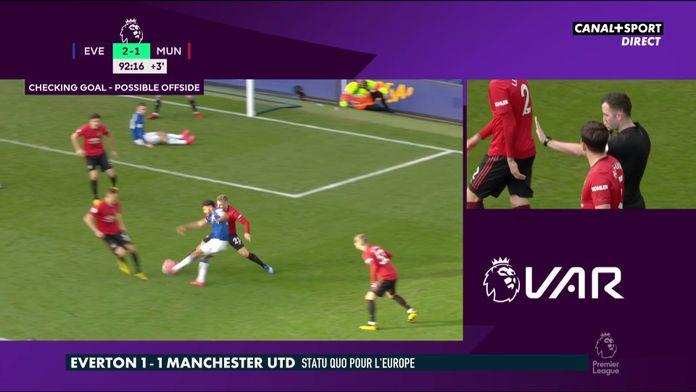 Everton / Manchester United : Le but annulé en toute fin de match : Premier League