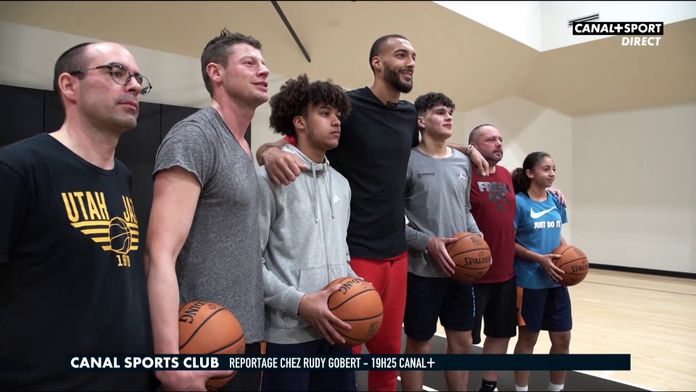 Reportage chez Rudy Gobert ce samedi dans le CANAL SPORTS CLUB : Basketball Champions League