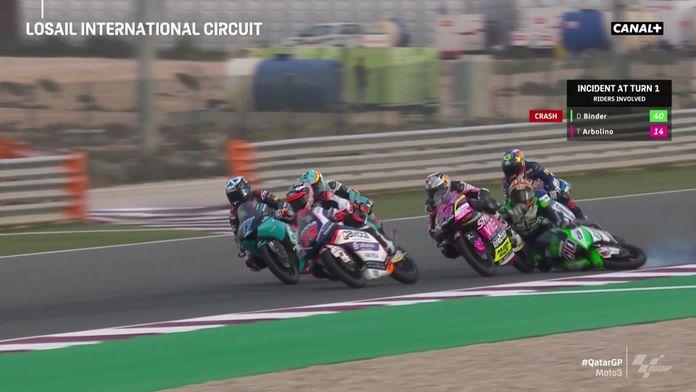 Le replay de la chute de Binder : Grand Prix du Qatar