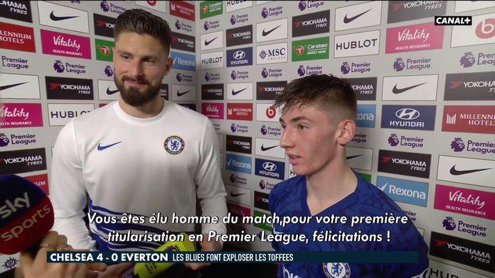L'échange sympa entre Giroud et Gilmour : Chelsea FC