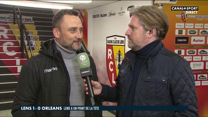 """Franck Haise : """"Encore beaucoup de travail"""" : Lens / Orléans"""