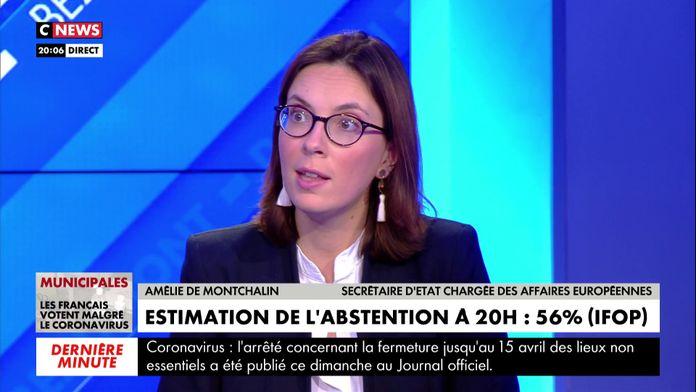 Amélie de Monchalin : «le virus ne se transmet pas quand on reste 5 minutes dans un bureau de vote et qu'on rentre de chez soi»