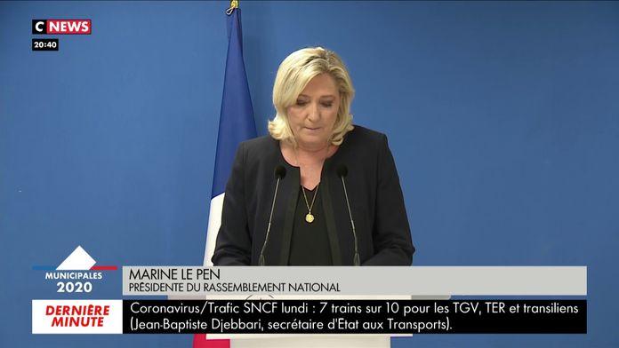 Marine Le Pen: «Le second tour n'aura manifestement pas lieu»