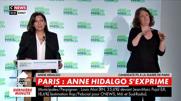 Anne Hidalgo remercie ses électeurs