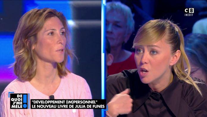 """Enora Malagré à Julia de Funès : """"Votre livre est de la philosophie de bas étage !"""""""