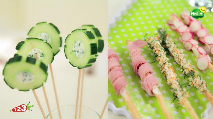 Les sucettes de concombre