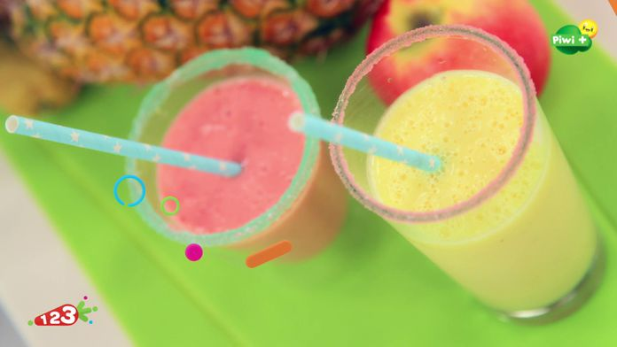 Les smoothies de fruits