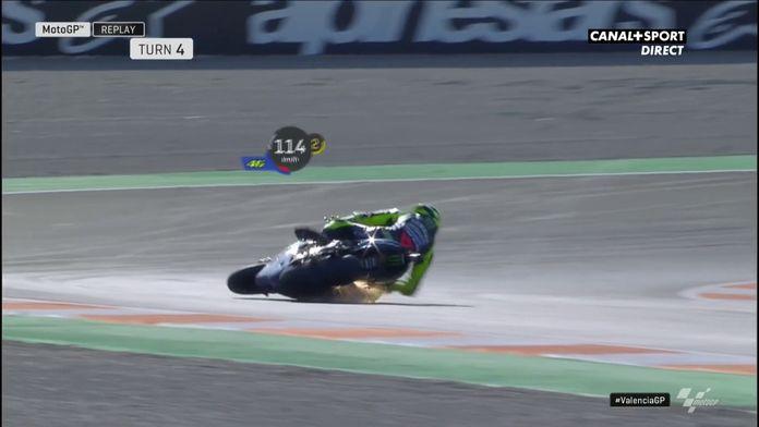 La chute de Valentino Rossi : MotoGP