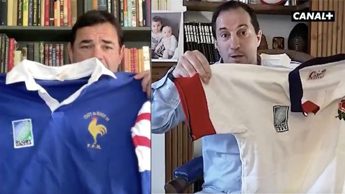 25 après, le fabuleux nouvel échange entre Philippe Sella et Will Carling : Deux maillots, Des souvenirs