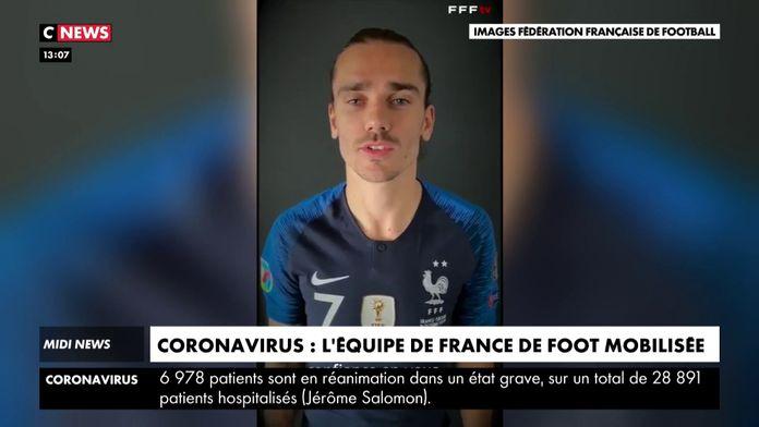Covid-19 : L'équipe de France mobilisée : Les Bleus