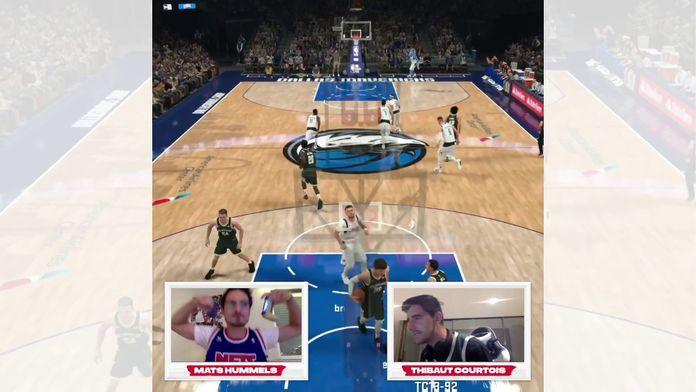 NBA2K Sundays avec Thibaut Courtois - Première semaine - Mavericks VS Bucks contre Mats Hummels : NBA2K Sundays