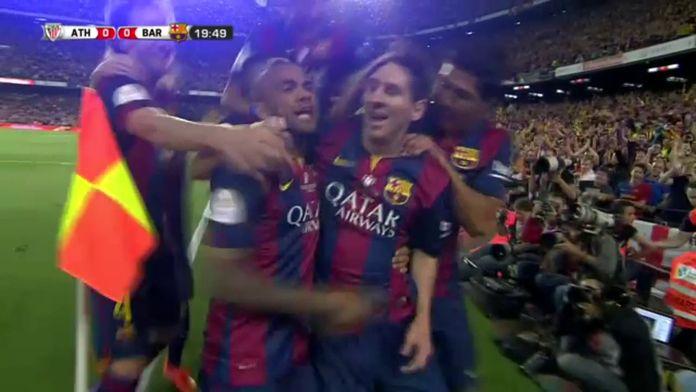 Le but fou de Messi en finale de la Coupe du Roi 2015 ! : Barcelone / Athletic Bilbao - Finale Coupe d'Espagne 2015