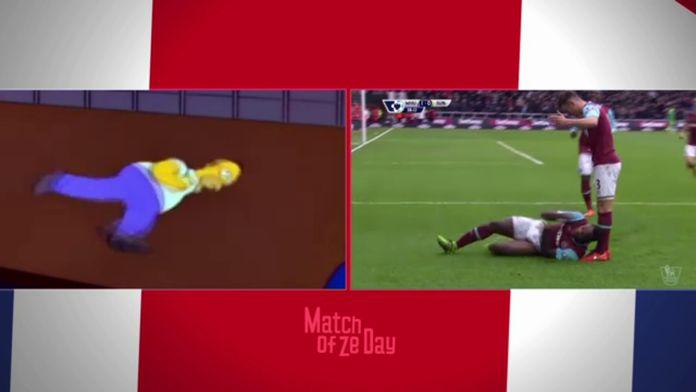 Quand Michail Antonio célébrait un but façon Homer Simpson... : Football - Premier League