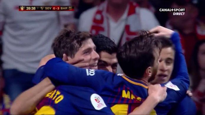 Le doublé de Suarez : Séville vs Barcelone, Finale de la Coupe du Roi
