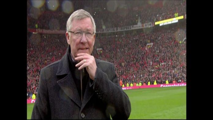 Old Trafford acclame Sir Alex Ferguson pour son dernier match à domicile : Archive CANAL+