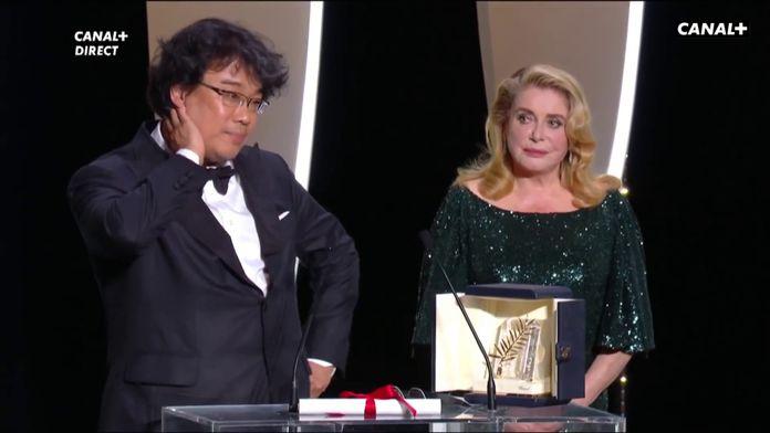 Palme d'Or pour Parasite de Bong Joon-Ho