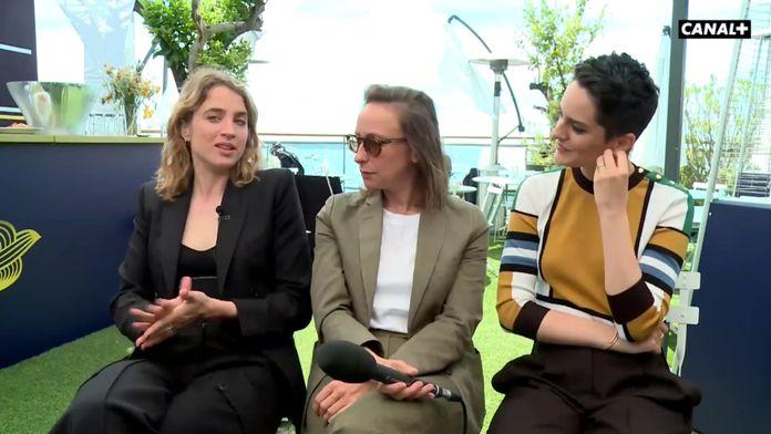 Noémie Merlant, Adèle Haenel, Celine Sciamma, Valeria Golino,et Luana Bajrami
