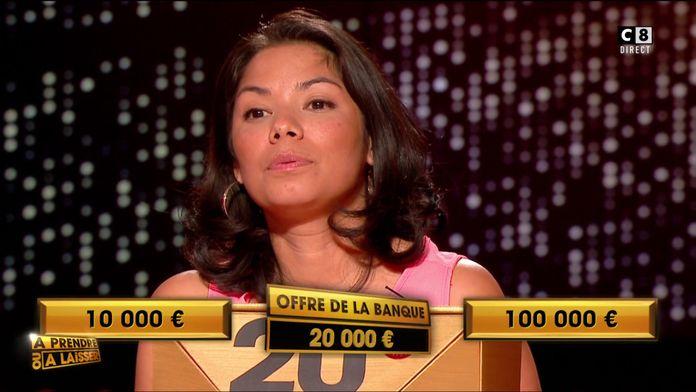 """Combien Sandrine a-t-elle gagné pour la première de """"À prendre ou à laisser"""" ?"""