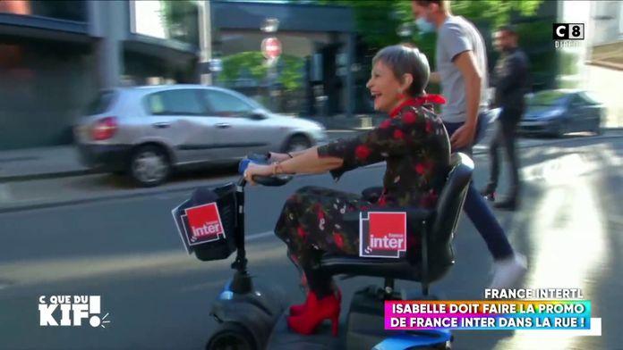 """Quand Isabelle Morini-Bosc descend dans la rue pour faire la promotion de """"France Inter"""" !"""