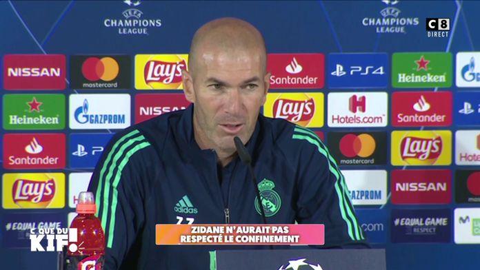 Zinédine Zidane créé la polémique en ne respectant pas le confinement en Espagne