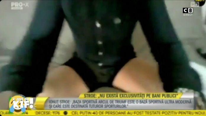Le Ministre des sports Roumain se retrouve en caleçon en duplex à la télévision