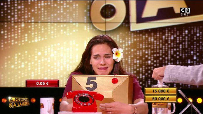 Une boîte rouge contre deux boîtes dorées, les 50 000 euros se rapprochent pour Vaïana