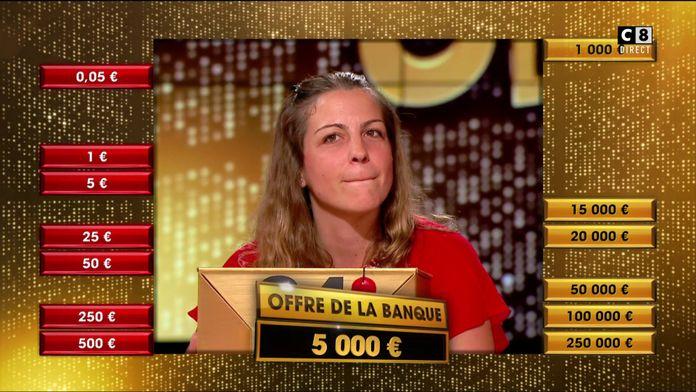 Après l'élimination de grosses sommes, Aurélie acceptera-t-elle la proposition du banquier ?