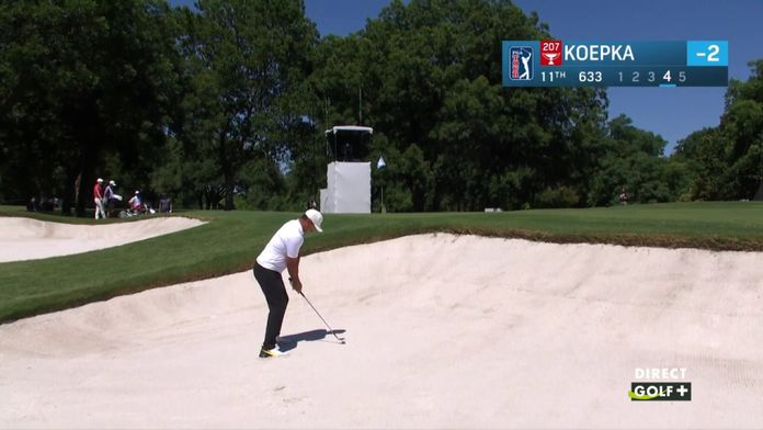 Sortie de bunker agressive de Koepka - Charles Schwab Challenge : PGA Tour Charles Schwab Challenge