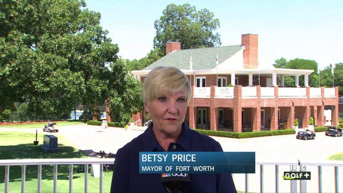 Betsy Price maire de Fort Worth évoque la mise en place du tournoi : PGA Tour Charles Schwab Challenge