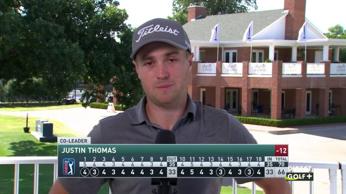Justin Thomas pourtant co leader semble déçu de son jeu - Charles Schwab Challenge : PGA Tour - Charles Schwab Challenge