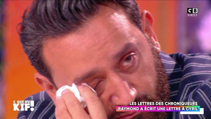 Cyril Hanouna très ému après que Raymond lui adresse un message d'amitié