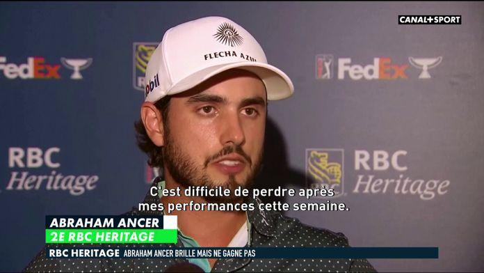 RBC Heritage - Abraham Ancer brille mais ne gagne pas : Golf+ Le Mag