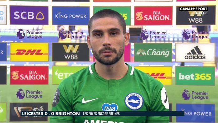 La réaction de Neal Maupay : Leicester / Brighton