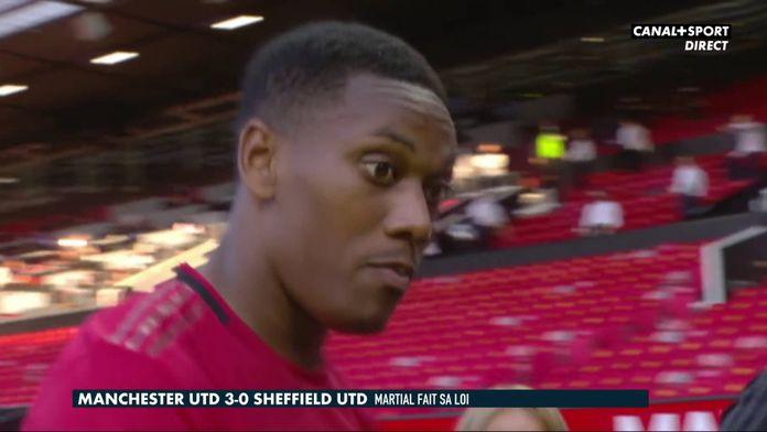 La réaction d'Anthony Martial après le premier triplé de sa carrière : Premier League