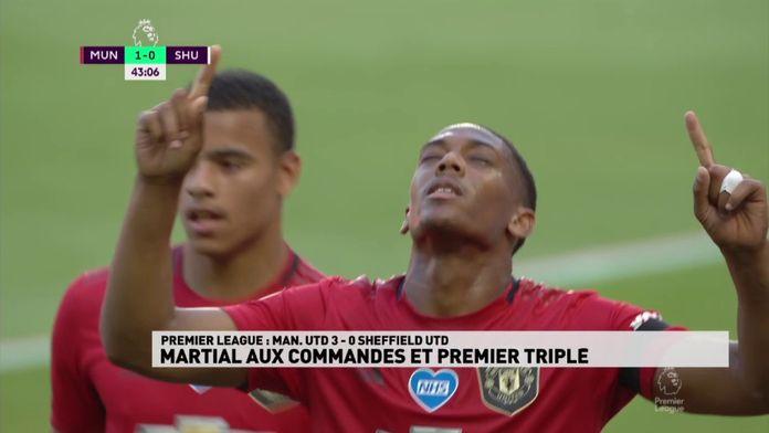 Anthony Martial porte Manchester United avec son triplé : Premier League