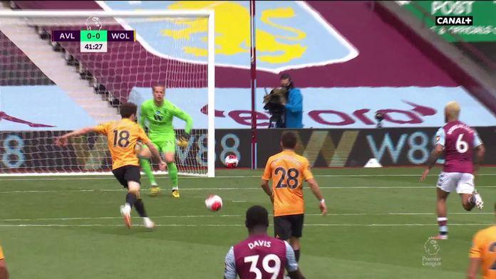 Jota ne profite pas de l'énorme bévue du gardien de Villa, Orjan Nyland : Premier League, 32ème journée