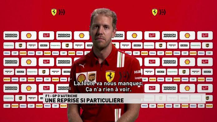 """Sebastian Vettel : """" La foule va nous manquer, ça n'a rie à voir"""" : Grand prix d'Autriche"""