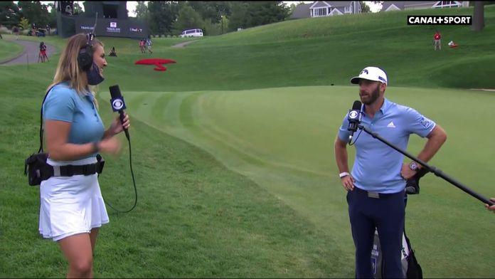 """Dustin Johnson : """"J'ai vraiment eu un très bon putting cette semaine"""" : Travelers Championships"""