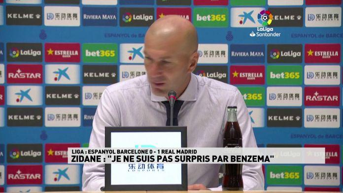 "Zidane : ""Je ne suis pas surpris par Benzema"" : Liga"