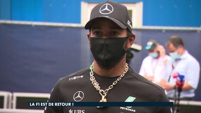 """Lewis Hamilton : """"Je suis très heureux de voir la réponse de mon écurie et de la F1"""" : Formule 1"""