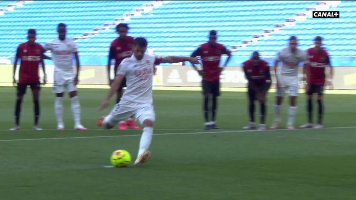 L'ouverture du score pour Aouar - Lyon/Nice : Amical