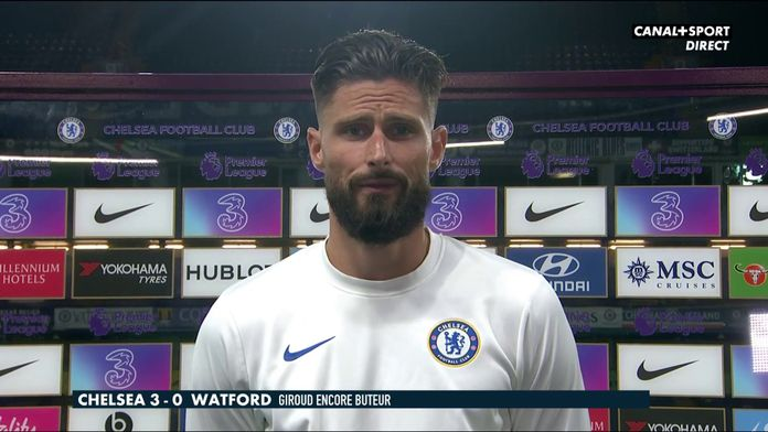 Réaction d'Olivier Giroud après son match face à Watford : Interview