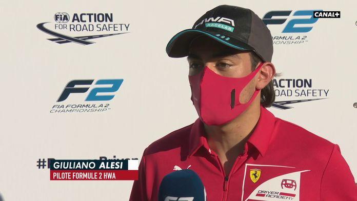 """Giuliano Alesi : """"Être prétendant pour le titre"""" : Formule 2"""