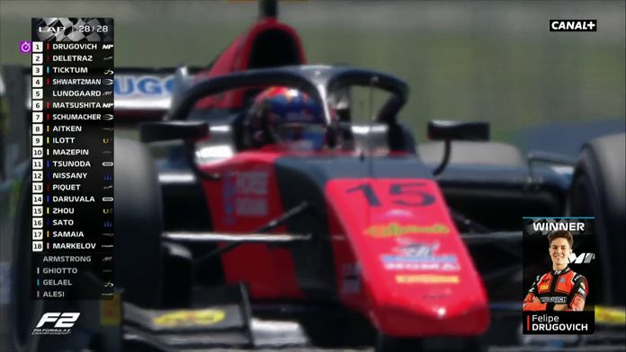 Victoire de Drugovich dans la course sprint : GP d'Autriche F2