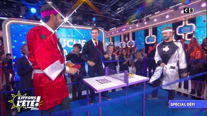 Spécial Défi : le chanteur Grégoire défie Cyril au ping-pong