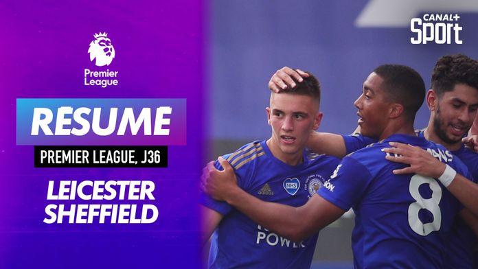Les buts de Leicester - Sheffield