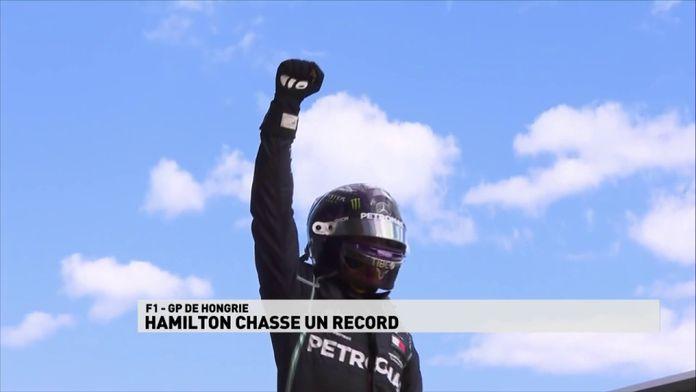 Lewis Hamilton chasse un des recor