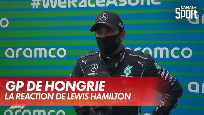 La réaction de Lewis Hamilton aprè